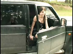 4 movies - Nice teen peeing near car