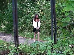 4 movies - Naughty college girl empties her bladder in park