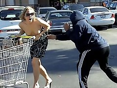 3 movies - Hot chick loses top in parking lot!